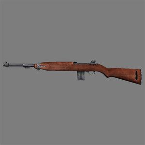 3ds max m1 carbine