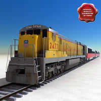 3d model realistic passenger train