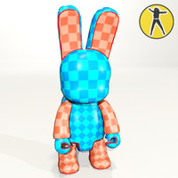 bunee vinyl toy paintable 3d max