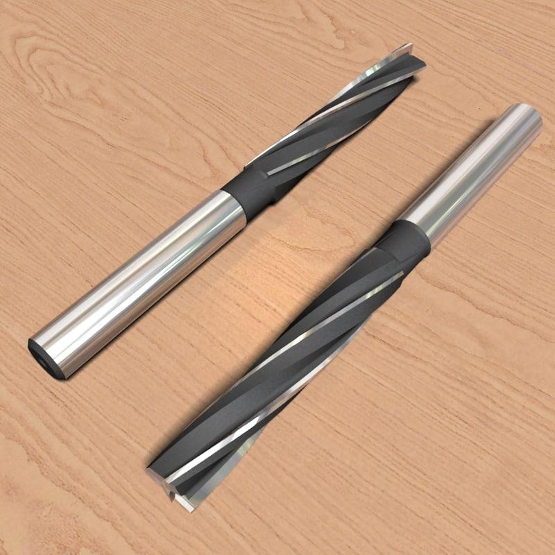 3d model reamer-mill 10 4mm
