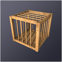 medieval poultry cage 3d 3ds