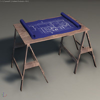 3d model sawhorse games simulation