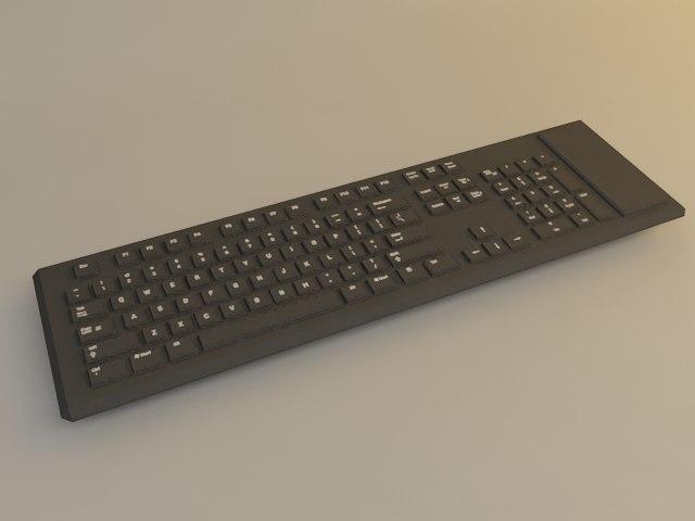 flex teclado flexible 3d max