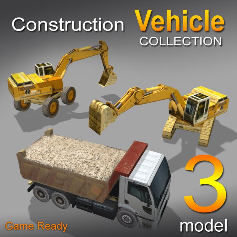 3 construction-vehicle 3d 3ds