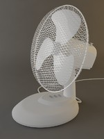 Fan white (high detailed)