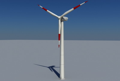 real time wind turbine 3d model