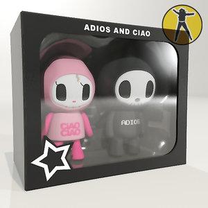 3d max vinyl toys adios ciao