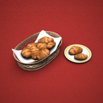 obj croissant bread basket