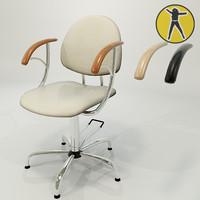 3d model chair hair