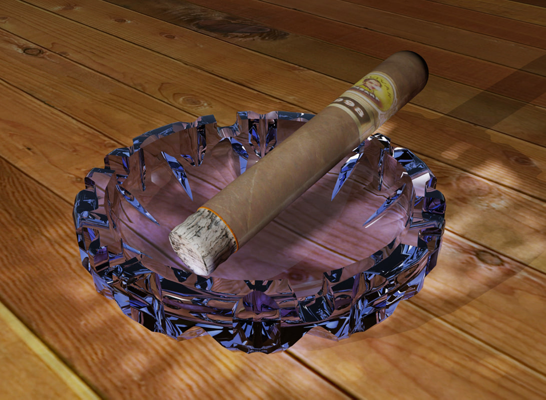 glass ashtray 3d max
