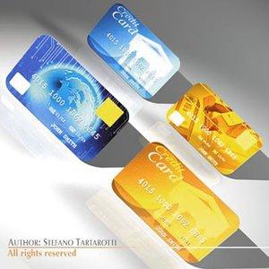 credit cards 3d model