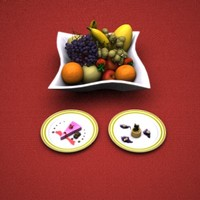 Fruit dessert set