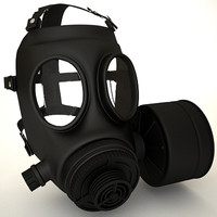 3d gasmask gas mask model