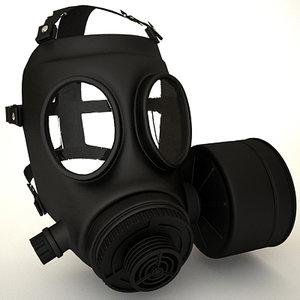 3d gasmask gas mask model