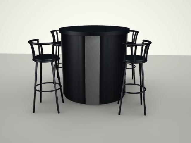 3d model bar stools