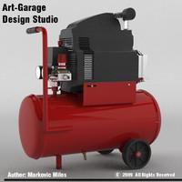 air compressor 3d 3ds