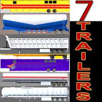 3d model 7 trailers