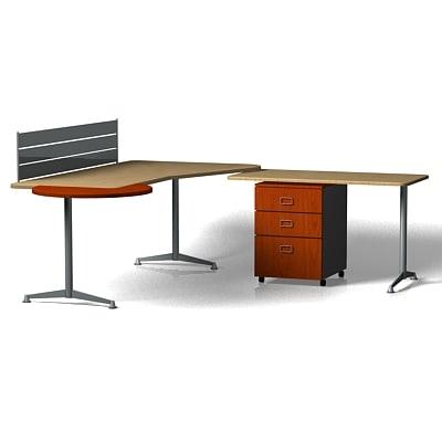 3d Office Workstation Desk
