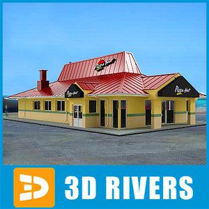 fast food pizza hut 3d model