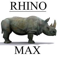 3d rhinoceros model