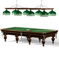 3d model russian billiards table