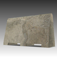 3d 3ds concrete barrier