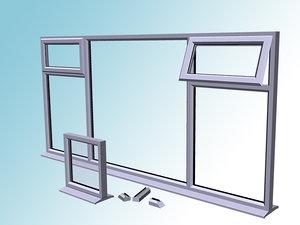 3ds max upvc double glazing kit
