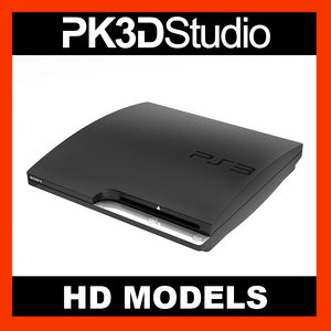 3d new sony ps3 slim model