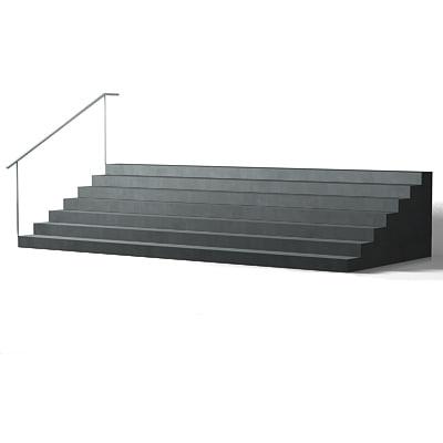 free outdoor stairs metal 3d model