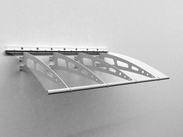 glass canopy 3d model