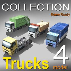 4 truck 3d 3ds