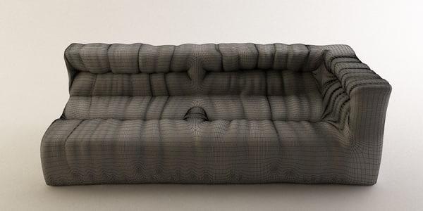 3d sofa wrinkles model