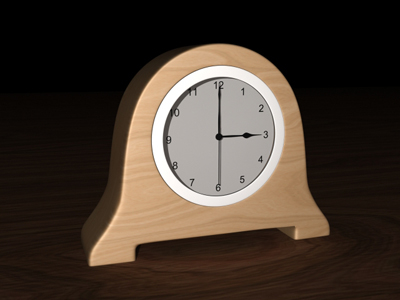 simple clock modern bedroom 3d model