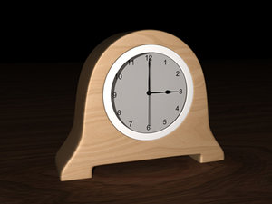 simple clock modern bedroom 3d model