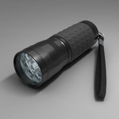 3ds max led flashlight