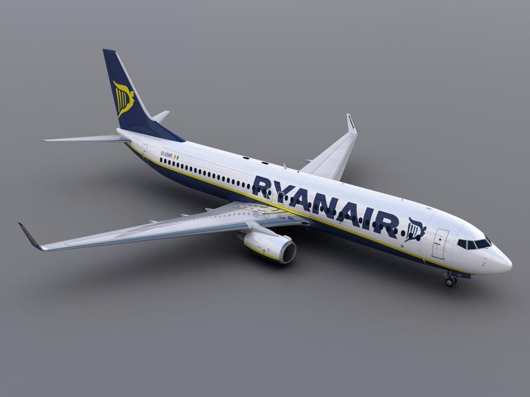 aircraft ryanair 3d model