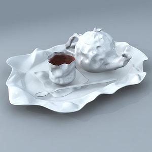 max paper ceramic tea set