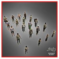3dsmax human - villagers