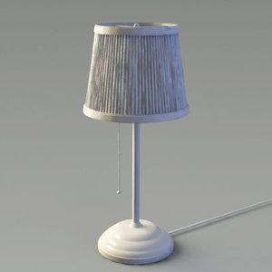 3d ikea table lamp model