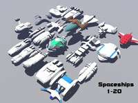 3ds max alien spaceships