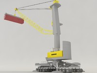 3d model liebherr harbour crane