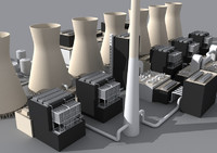 coal power plant 3d model
