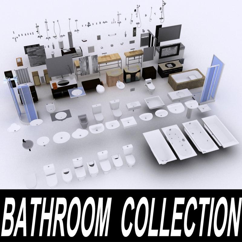 3dsmax bathroom furniture bathtub