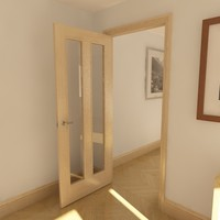 3d 2 panel glazed door
