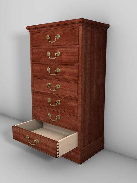 3ds mahogany drawer cabinet