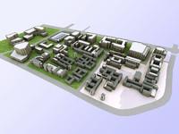 3d town model