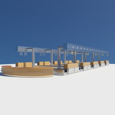 3d max airport counter