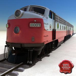 realistic locomotive emd f7 3d model