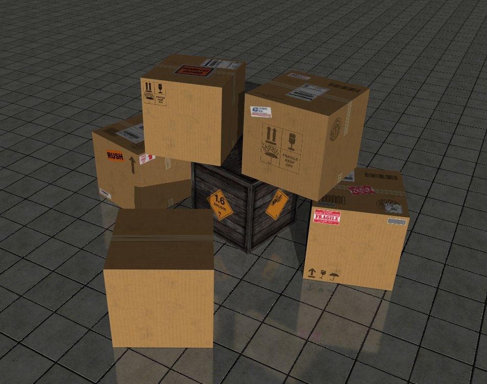 cinema4d cardboard boxes