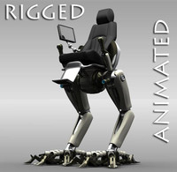 Robot 4 (Rigged & Animated)